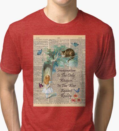 Cita de Alicia en el país de las maravillas - Imaginación - Página de diccionario Camiseta de tejido mixto