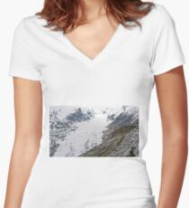High up in the Alps Women's Fitted V-Neck T-Shirt