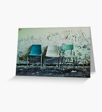 3 Chairs Greeting Card