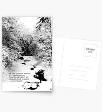 Stinson Brook - Camus Quote Print and Poster Postcards