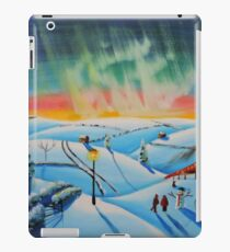 The northern lights naive landscape  iPad Case/Skin