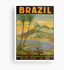 Brazil vintage travel poster Metal Print