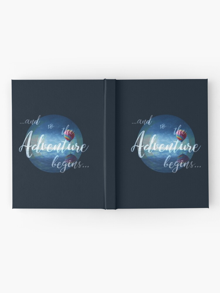 Alternate view of ...and so the Adventure begins... Hardcover Journal