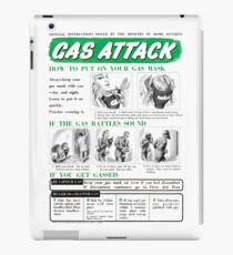 Gas Attack instruction poster WW2 iPad Case/Skin