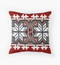 Native American Blanket Weaving Pattern Throw Pillow