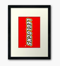 Leglocks BJJ Framed Print