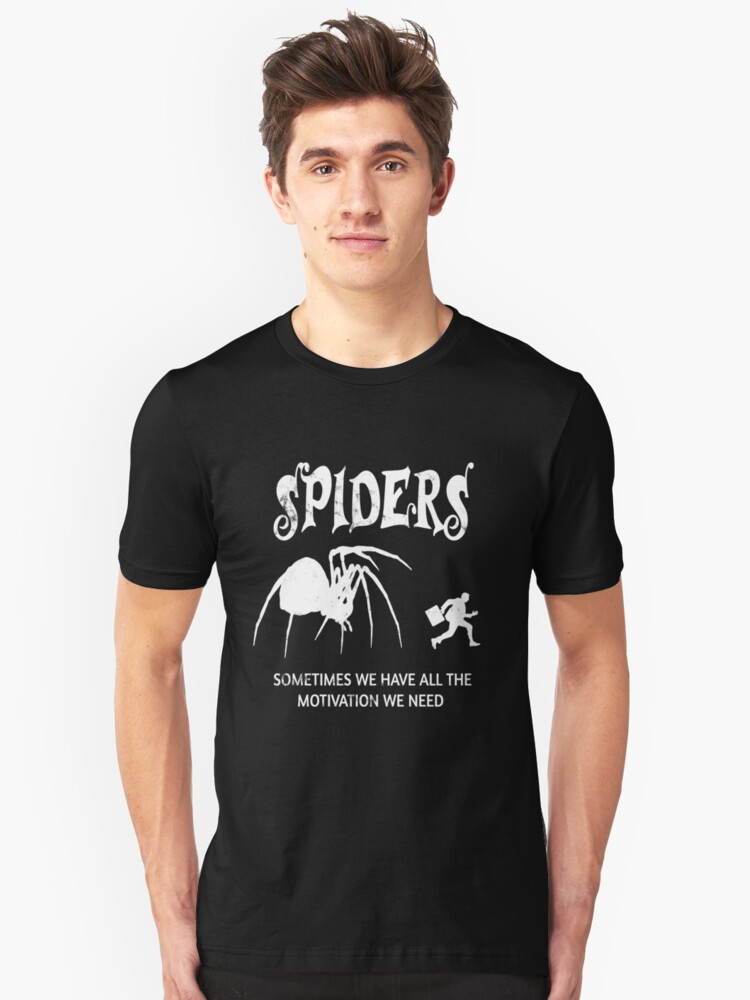 Tarantula Spider Haters Motivation Scary Spider  Unisex T-Shirt Front