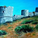 The Castle of Barbarossa - Capri by Carole Russell