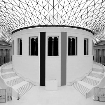 The British Museum. Panorama of the Great Court. by chuckirina