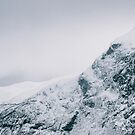 Dramatic Nordic Mountain Peaks During Wintertime by visualspectrum