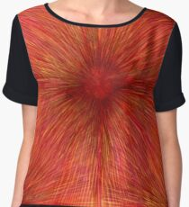 Watercolor and colored pencils Chiffon Top