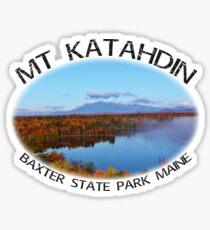 Mt Katahdin Baxter State Park Maine Autumn Sticker