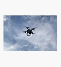 Out of the Blue a Drone appears.. Photographic Print