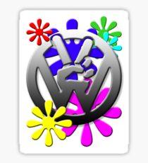 Peace hippie flowers  Sticker