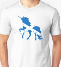 Flag Unicorn of Scotland Unisex T-Shirt