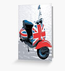 Vespa Scooter - Mod Decoration, Pop Art Print Greeting Card