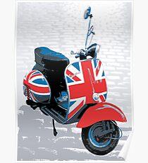 Vespa Scooter - Mod Decoration, Pop Art Print Poster