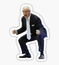 Angry Roy Williams UNC Sticker