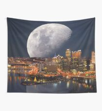 Spacey Pittsburgh Wall Tapestry