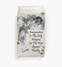 Alice In Wonderland Quote - Imagination Duvet Cover
