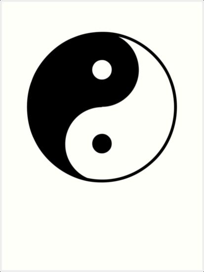 Asian Yin Yang Symbol Art Prints By Popculture Redbubble