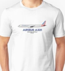 Airbus A321 - American Airlines Unisex T-Shirt