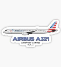 Airbus A321 - American Airlines Sticker