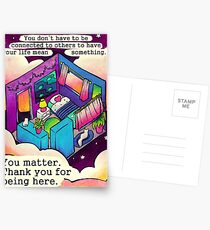 """""""You Matter. Thank You For Being Here."""" Starry Room Postcards"""