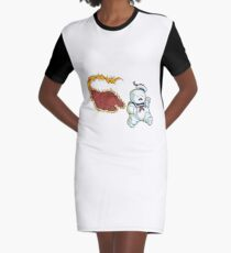 RUN MARSHMALLOW MAN - 0292 Graphic T-Shirt Dress