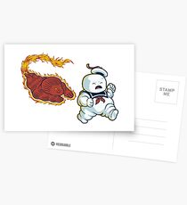 RUN MARSHMALLOW MAN - 0292 Postcards