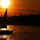 Sunset In The Sail by Clayton Bruster