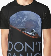 Spacex DON'T PANIC In Space Graphic T-Shirt