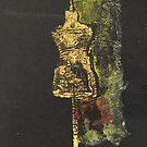 Golden mannequin by Catrin Stahl-Szarka