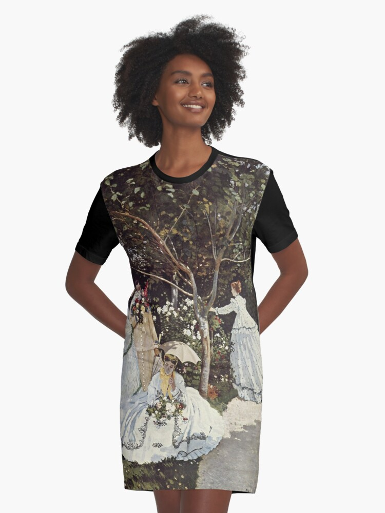 Women In The Garden(Femmes Au Jardin)  Claude Monet Graphic T Shirt