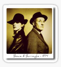 Bowie and Burroughs - 1974 Sticker