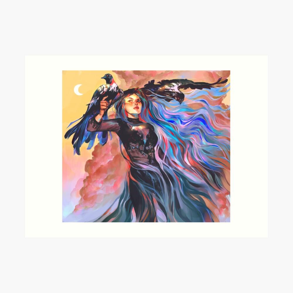 Hexe des ändernden Himmels Kunstdruck