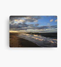 Evening  Seascape Waves - Nova Scotia Canada Seascape Canvas Print