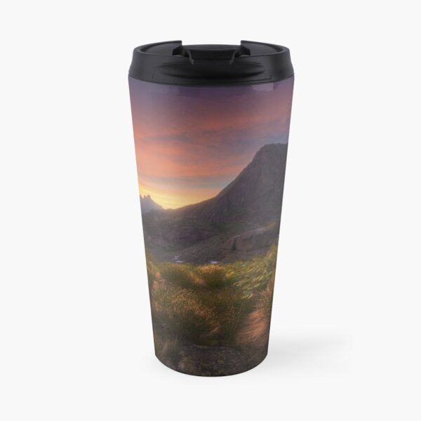Dawn over the mountain Sleeping Sayan. Travel Mug