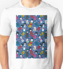 Juicy Blue Kokeshi Dolls Unisex T-Shirt