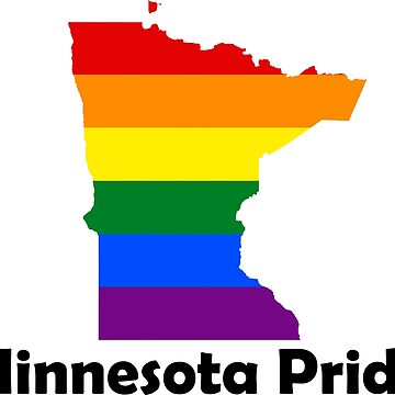 State of Minnesota Gay Pride Flag Map by MADdesign