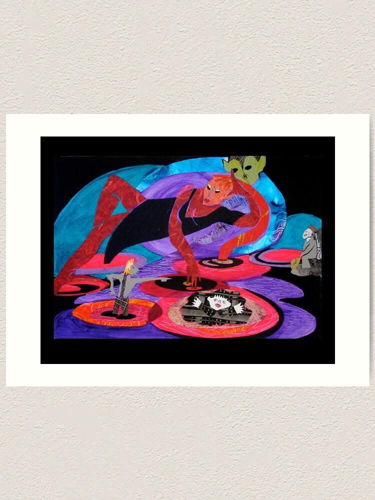 Alternate view of River Red Art Print