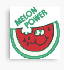 Watermelon Melon Power Funny 1980's Canvas Print