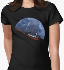 Spacex Starman In Orbit Women's Fitted T-Shirt
