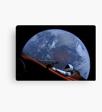 Spacex Starman In Orbit Canvas Print