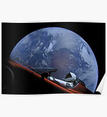 Spacex Starman im Orbit Poster