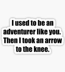 I Used to Be an Adventurer Like You. Then I Took an Arrow to the Knee. Sticker