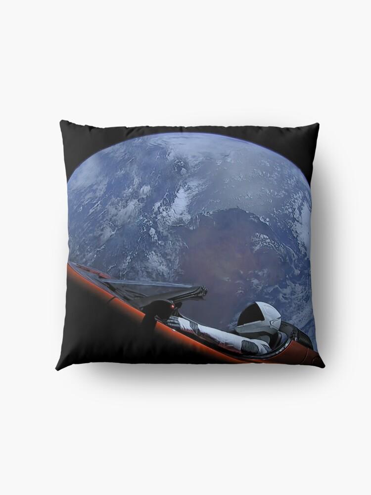 Alternative Ansicht von Spacex Starman im Orbit Bodenkissen