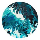 Fluid Art Round Painting by Maria Meester