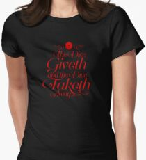 The Dice Giveth and the Dice Taketh Away Women's Fitted T-Shirt