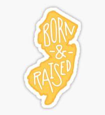 Geboren und aufgewachsen New Jersey Yellow Sticker